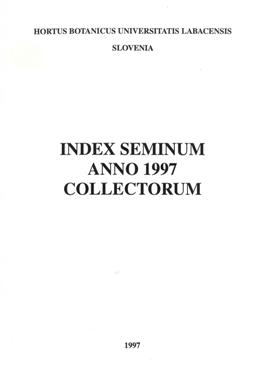 Index seminum, anno 1997, collectorum
